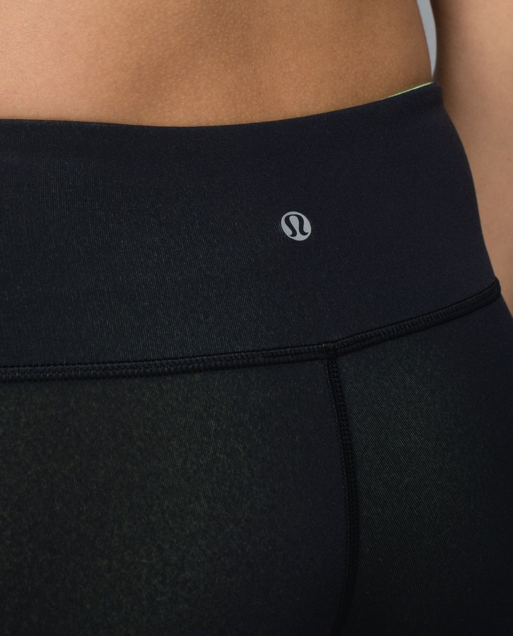 Lululemon Wunder Under Crop II (Reversible) - Clear Mint / Black