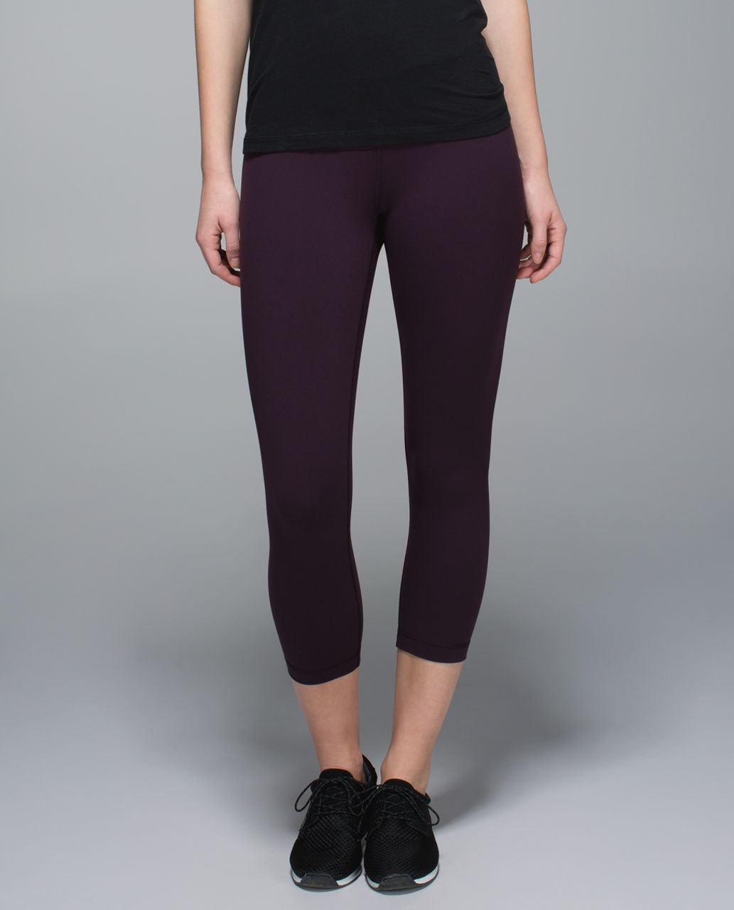 Lululemon Wunder Under Crop II *Full-On Luon - Black Cherry