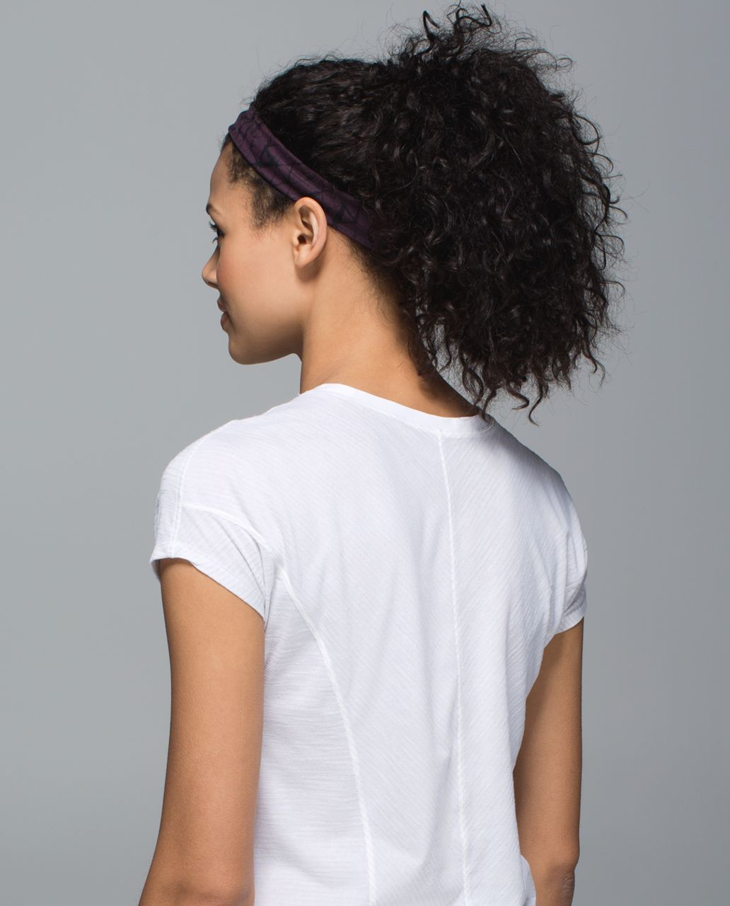 Lululemon Skinny Fly Away Tamer Headband - Star Crushed Black Cherry Black