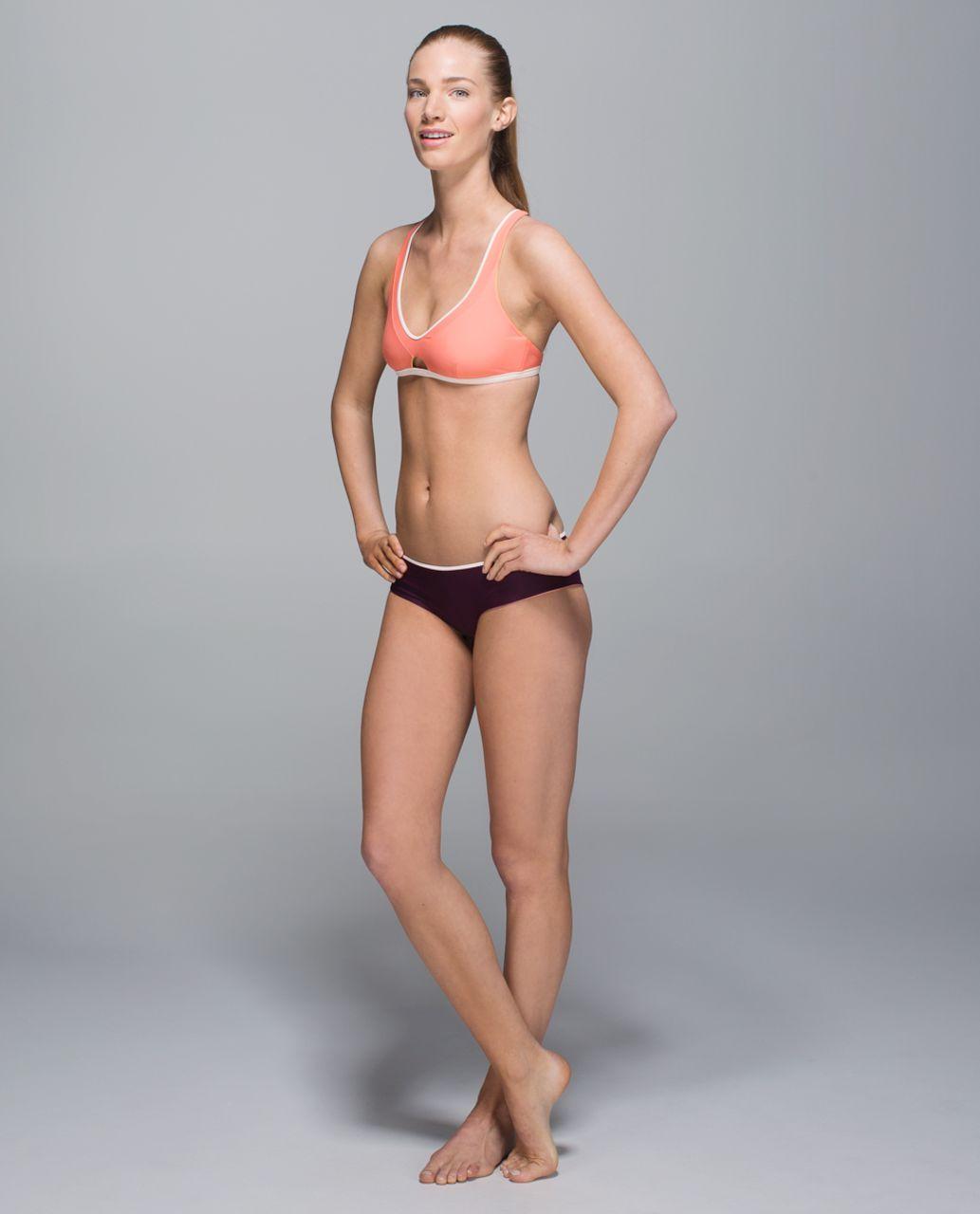 Lululemon Water:  Surf To Sand Sport Top - Plum Peach / Butter Pink / Lemon Lime