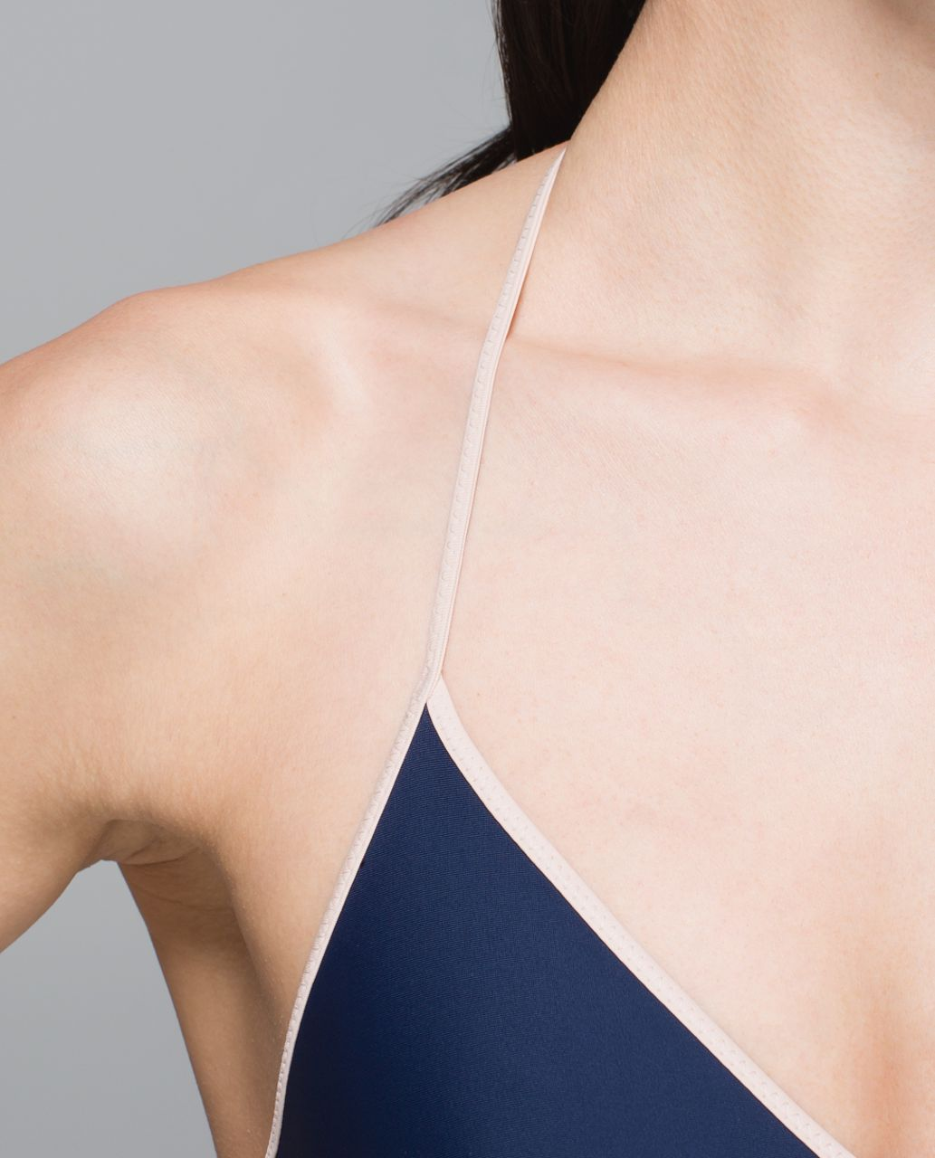 Lululemon Water:  Surf To Sand Tie Top - Naval Blue / Naked / Plum