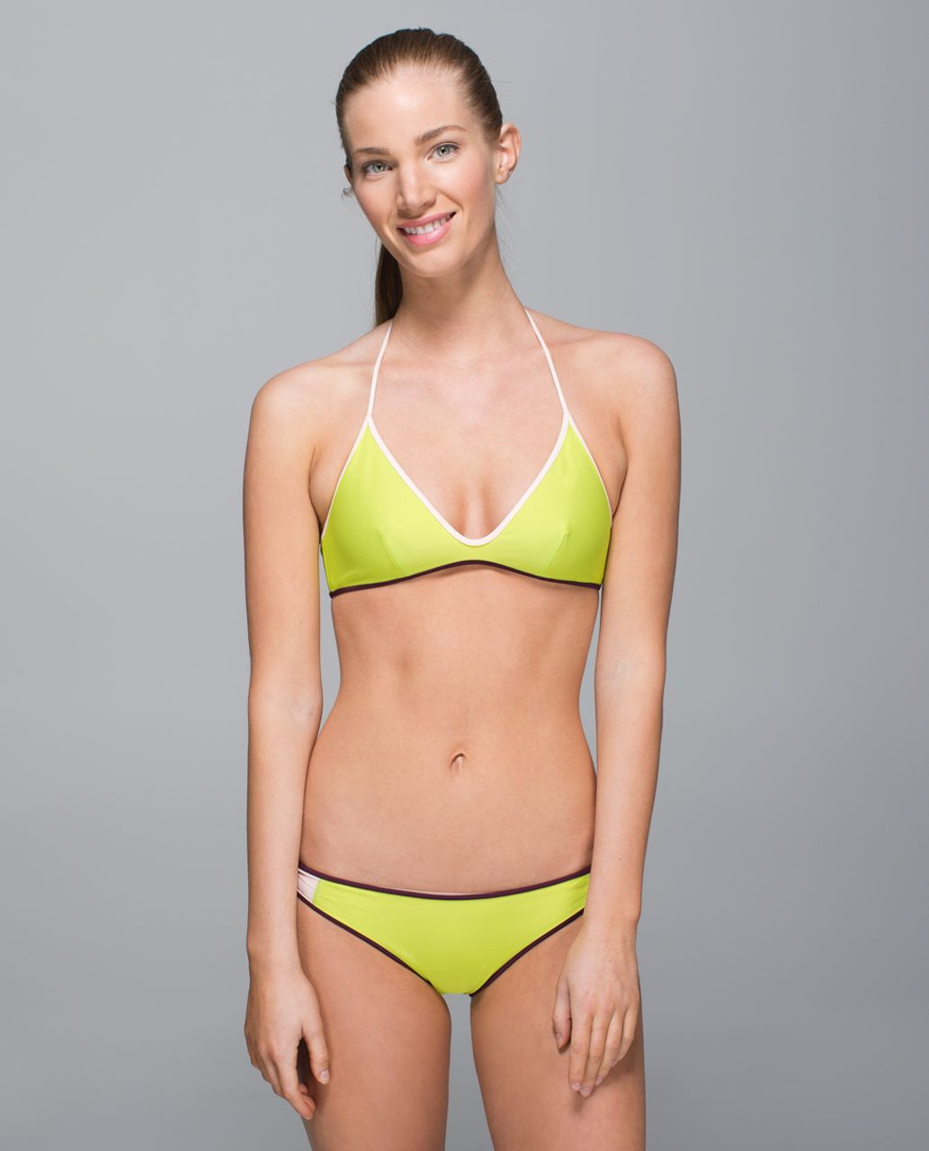 Lululemon Water:  Surf To Sand Tie Top - Plum Peach / Butter Pink / Lemon Lime