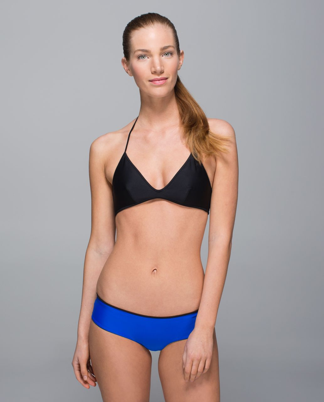 Lululemon Water:  Surf To Sand Tie Top - Black / Harbor Blue