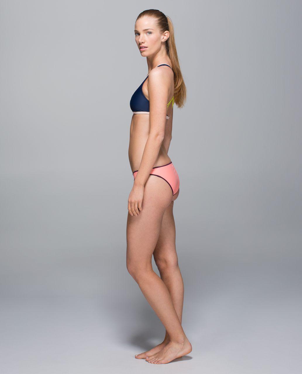 Lululemon Water:  Surf To Sand Bikini - Plum Peach / Plum / Lemon Lime