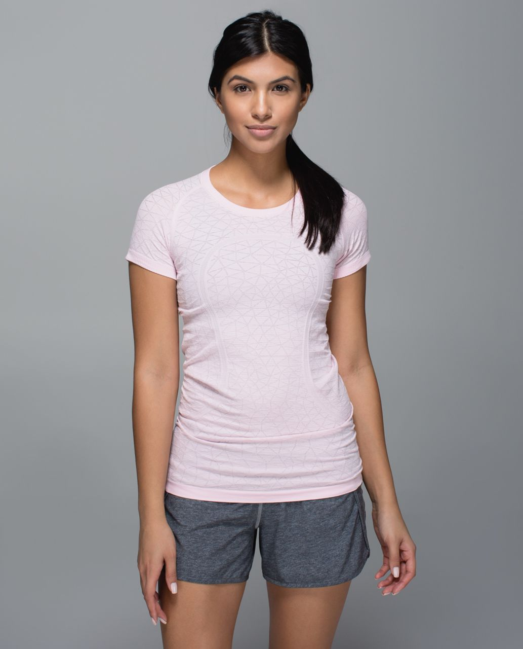 Lululemon Run:  Swiftly Tech Short Sleeve Crew - Heathered Strawberry Milkshake