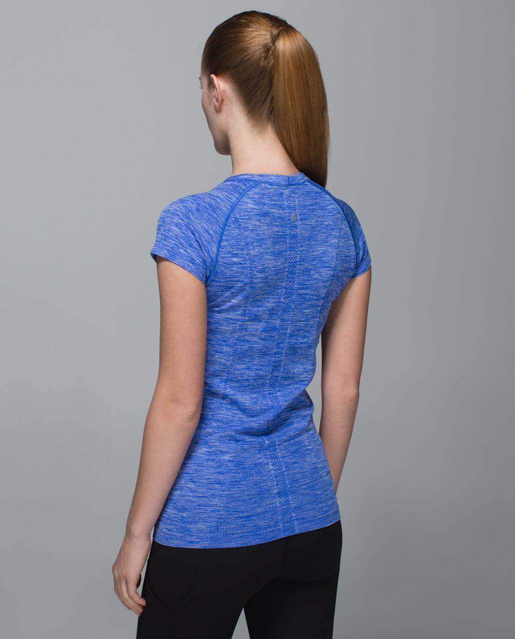 Lululemon Run:  Swiftly Tech Short Sleeve Crew - Space Dye Heathered Harbour Blue