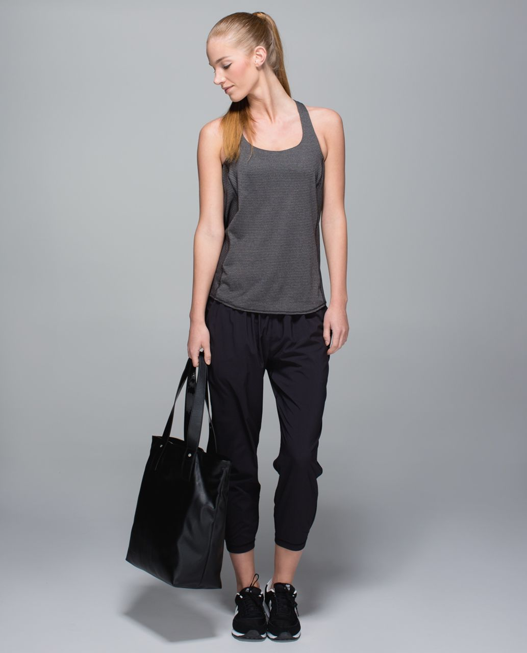 Lululemon Wild Tank - Heathered Black / Desert Snake Deep Coal Black