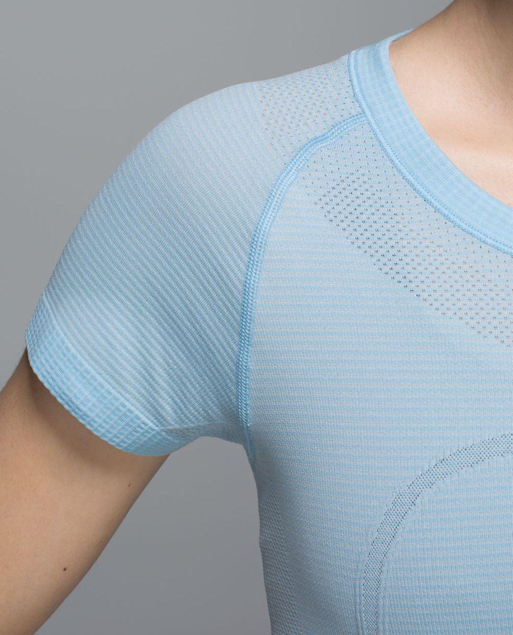 Lululemon Run:  Swiftly Tech Short Sleeve Crew - Heathered Caspian Blue