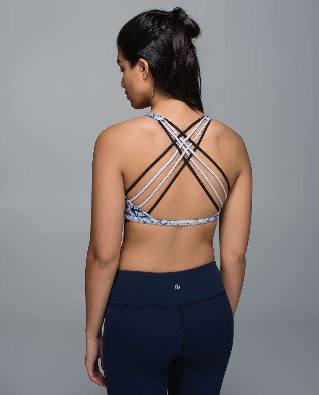 Lululemon Free To Be Bra (Wild) - Star Crushed Silver Fox Deep Navy / Black / Silver Fox