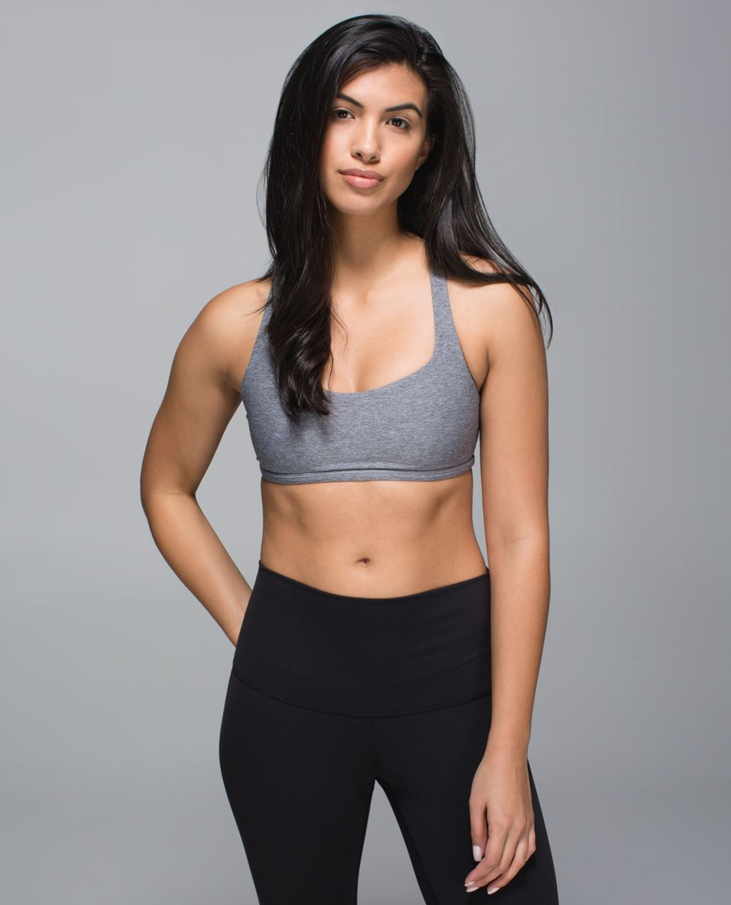 Lululemon Free To Be Bra (Wild) - Heathered Slate / Clear Mint
