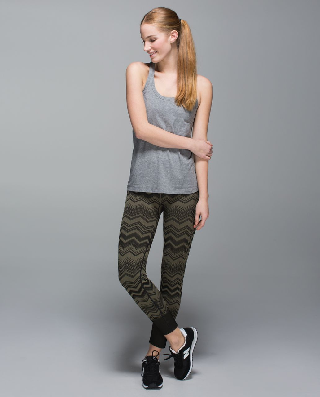 Lululemon Ebb To Street Pant - Heathered Fatigue Green (Chevron)
