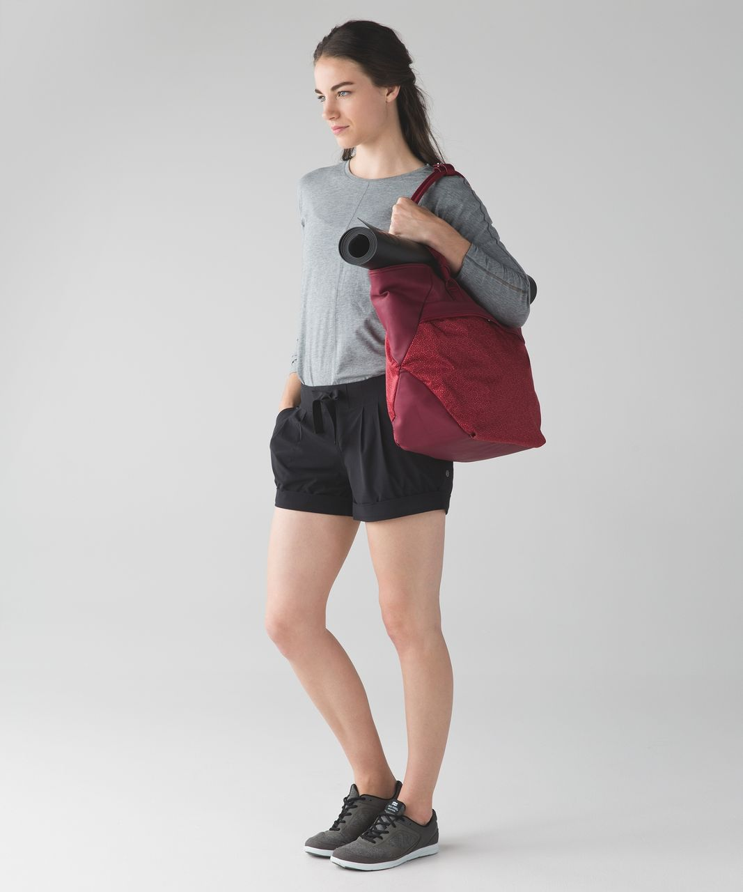 Lululemon Everything Bag - Rosewood / Freckle Flower Fireside Red Rosewood