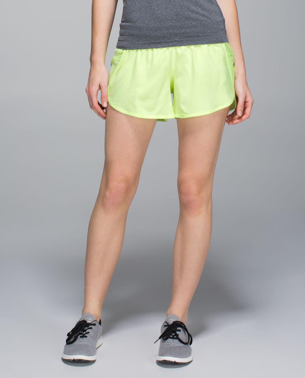 Lululemon Tracker Short III *4-way Stretch - Clear Mint / Hyper Stripe Clear Mint Zest