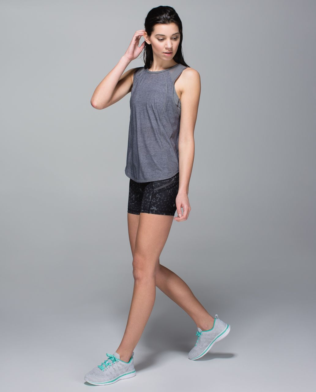Lululemon What The Sport Short *Full-On Luxtreme - Star Crushed Coal Black