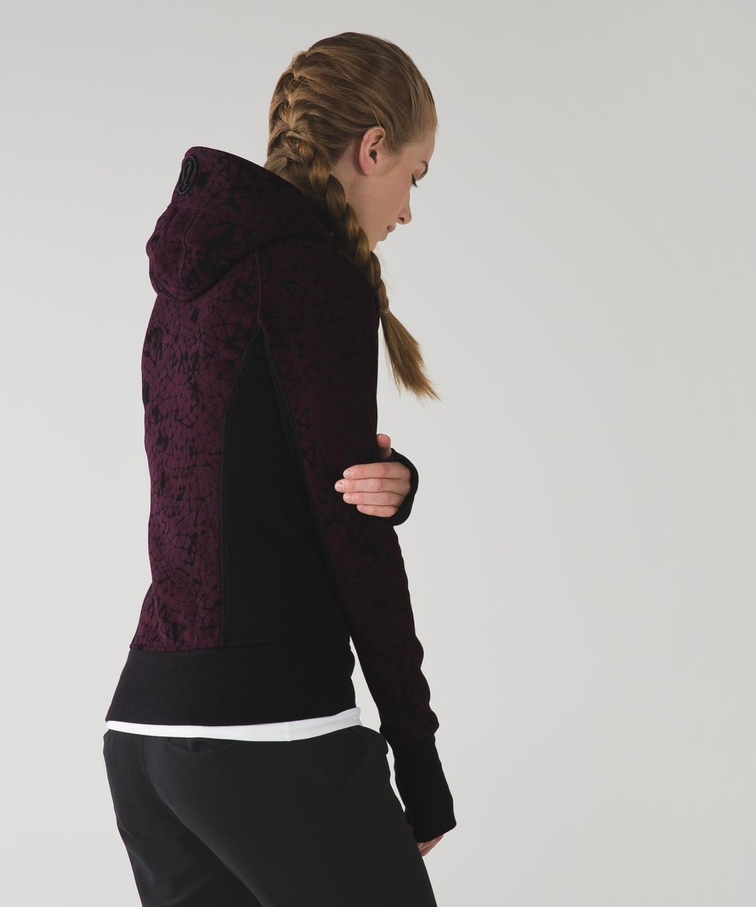 Lululemon Scuba Hoodie II - Star Crushed Black Cherry Black / Black