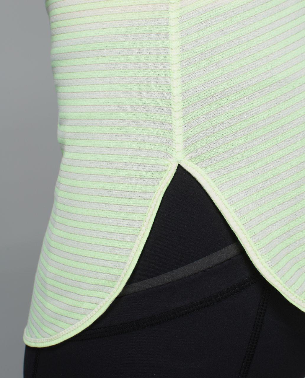 Lululemon What The Sport Singlet - Silver Stripe Clear Mint Zest