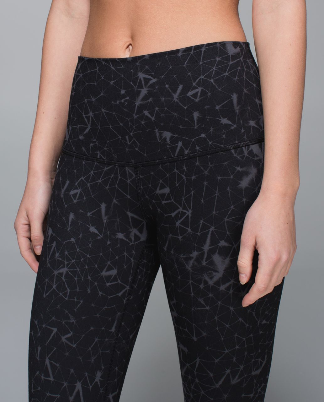 Lululemon Wunder Under Pant *Full-On Luon (Roll Down) - Star Crushed Coal Black