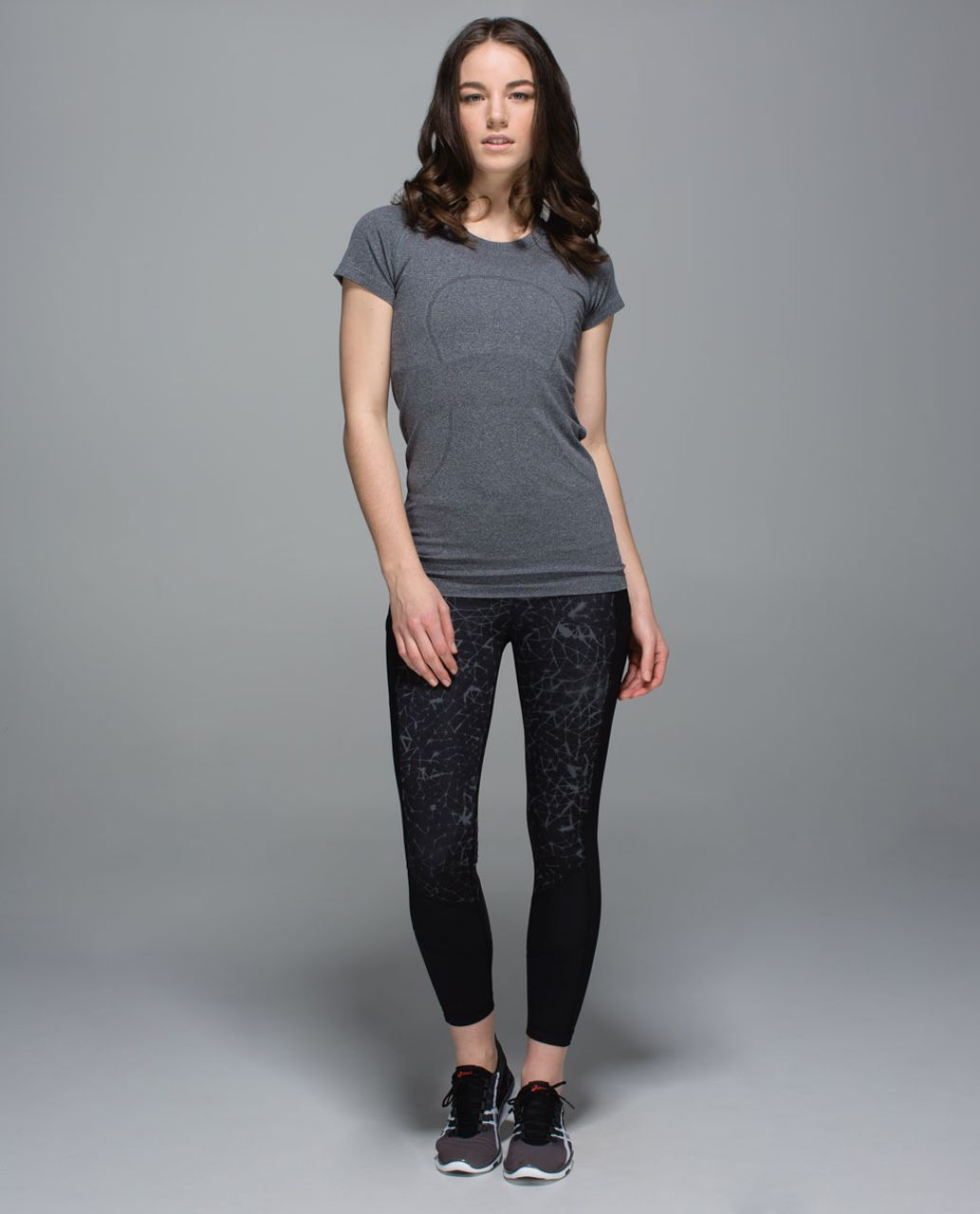 Lululemon Trail Bound 7/8 Tight *Full-On Luxtreme - Star Crushed Coal Black / Black