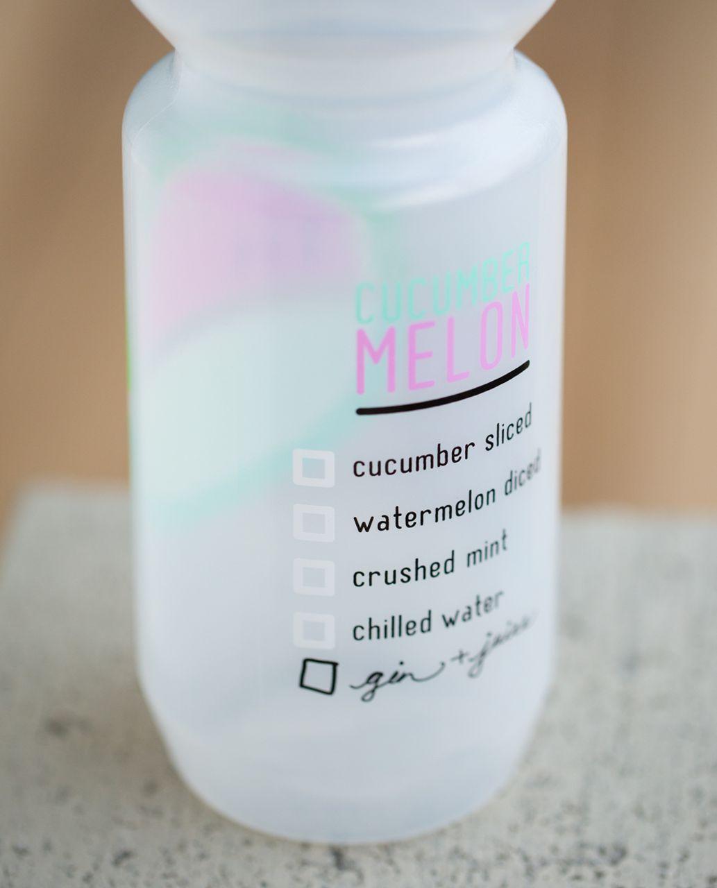 Lululemon Purist Cycling Water Bottle - Spiked Splash Sea Mist Vintage Pink