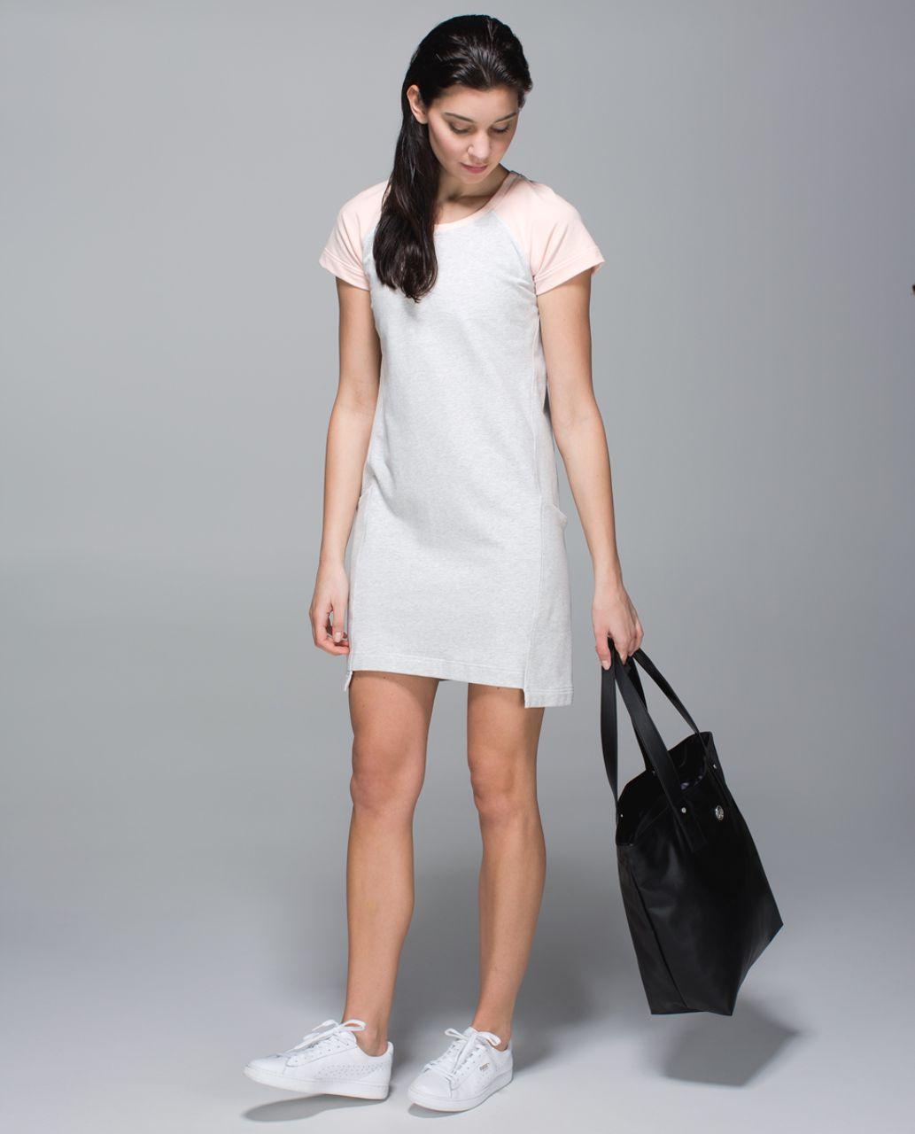 Lululemon Cut Above Dress - Heathered White / Butter Pink