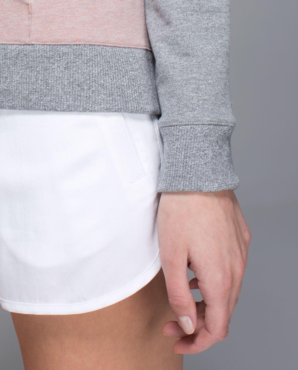 Lululemon Crew Love Pullover - Heathered Bark Berry / Heathered Speckled Medium Grey