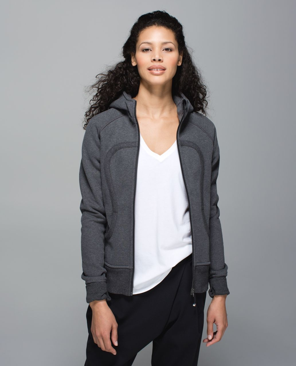 Lululemon Scuba Hoodie II - Heathered Dark Grey / Black