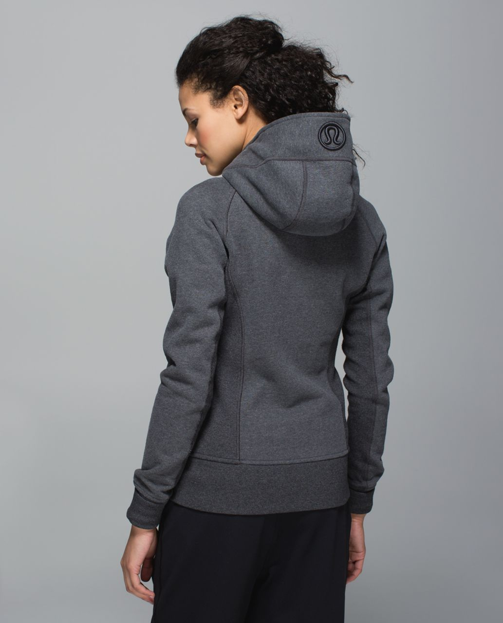 Lululemon Scuba Hoodie II - Heathered Dark Grey / Black - lulu ...
