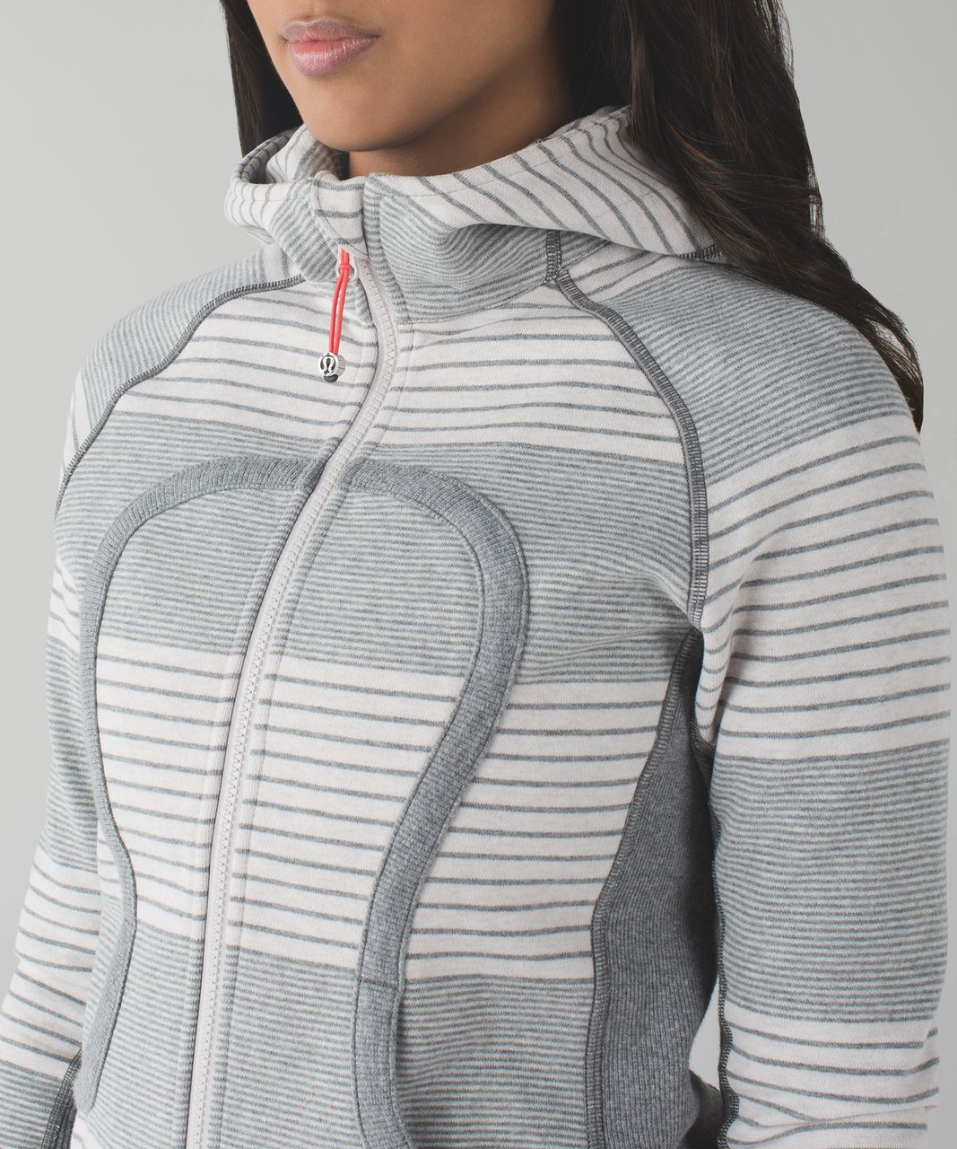 Lululemon Scuba Hoodie II - Double Vision Stripe Heathered Medium Grey Heathered Dune / Slate