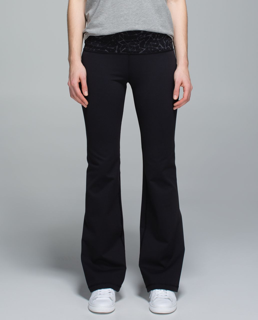 Lululemon Groove Pant II *Full-On Luon (Roll Down - Tall) - Black / Star Crushed Coal Black