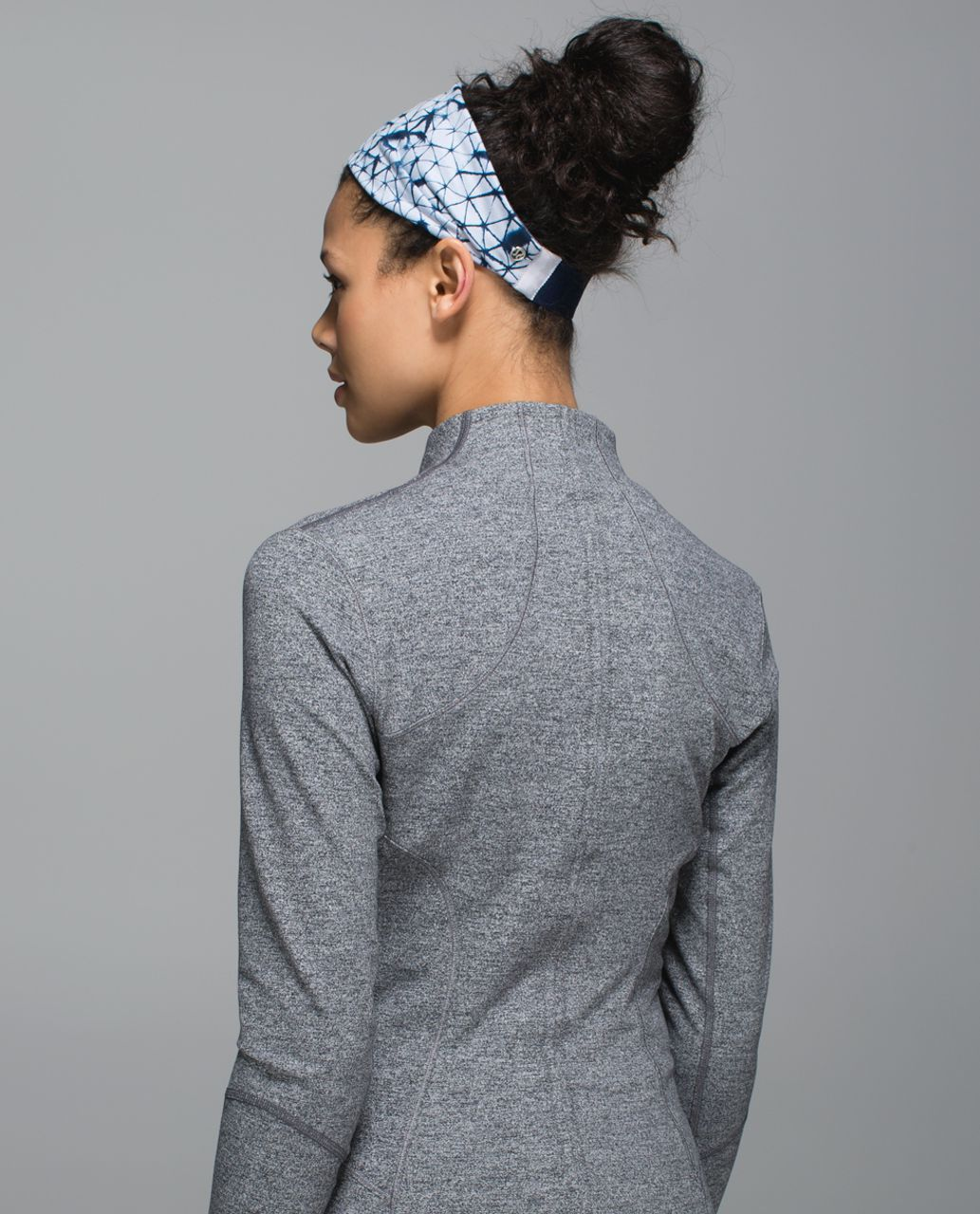 Lululemon Fringe Fighter Headband - Star Crushed Silver Fox Deep Navy / Heathered Deep Navy