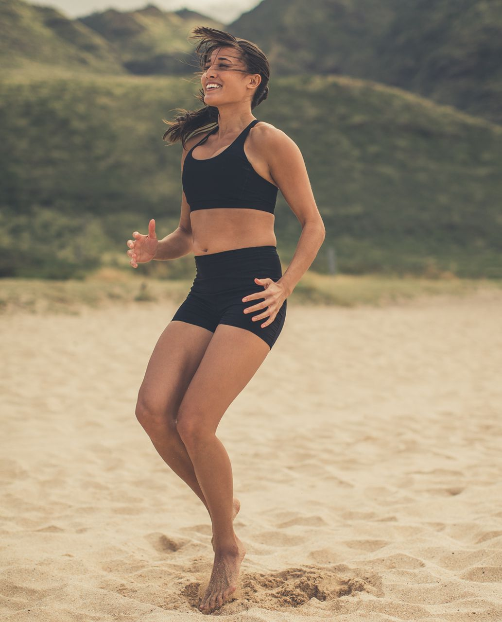 Lululemon Water:  Sea-Me Run Tight Short - Black