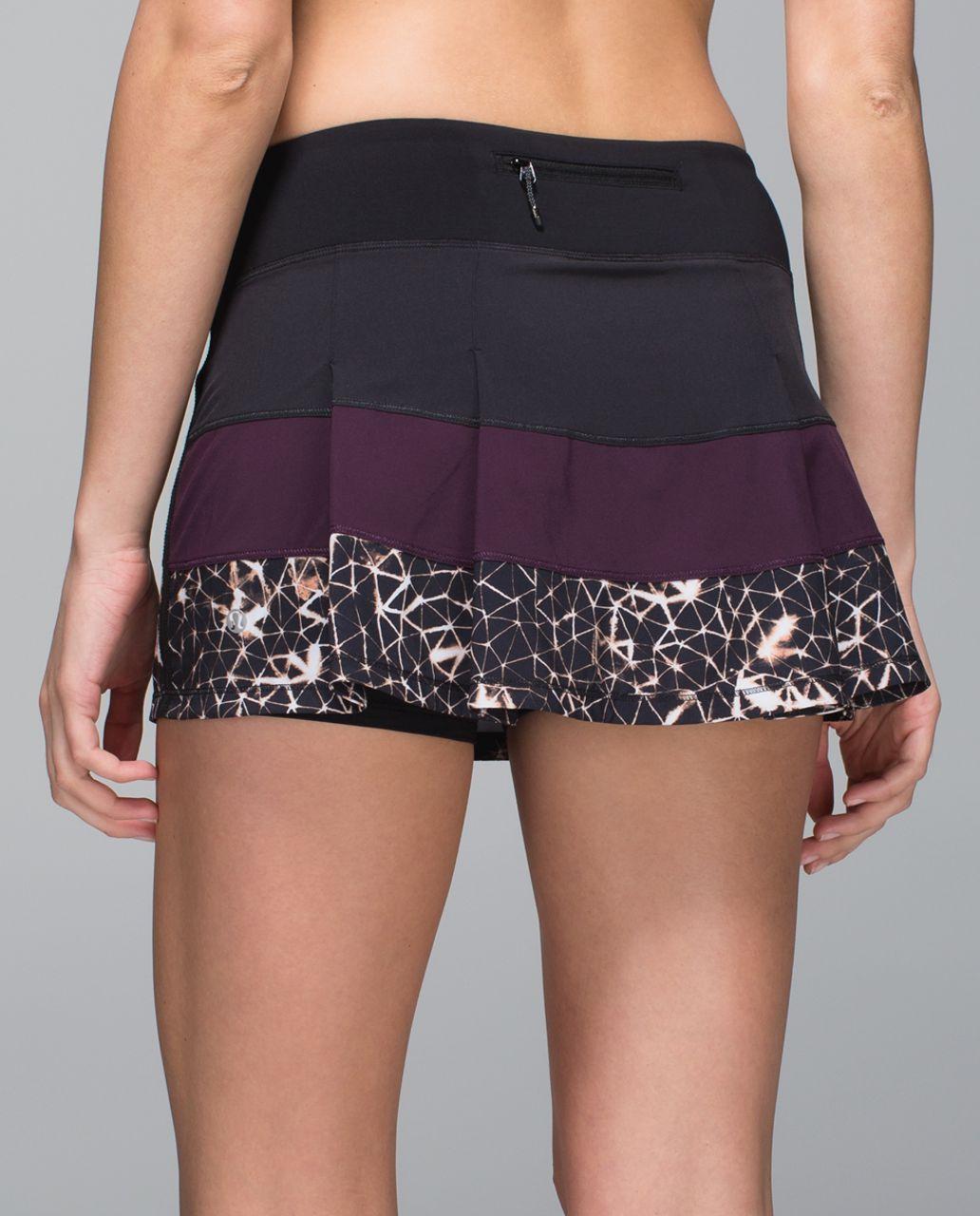 Lululemon Pace Rival Skirt II *4-way Stretch (Regular) - Black / Black Cherry / Star Crushed Black Cherry Black