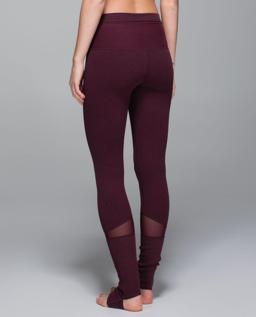 Lululemon Devi Yoga Pant - Heathered Bordeaux Drama   Black Cherry - lulu  fanatics 533df73eef6b4