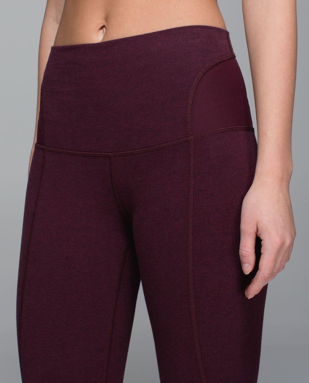 Lululemon Devi Yoga Pant - Heathered Bordeaux Drama   Black Cherry ... d540d6a703f5d