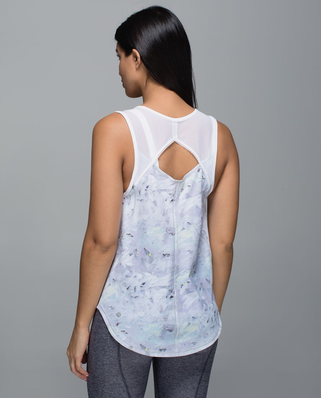 Lululemon Sculpt Tank - Mini Blushed Illusion White Multi / White