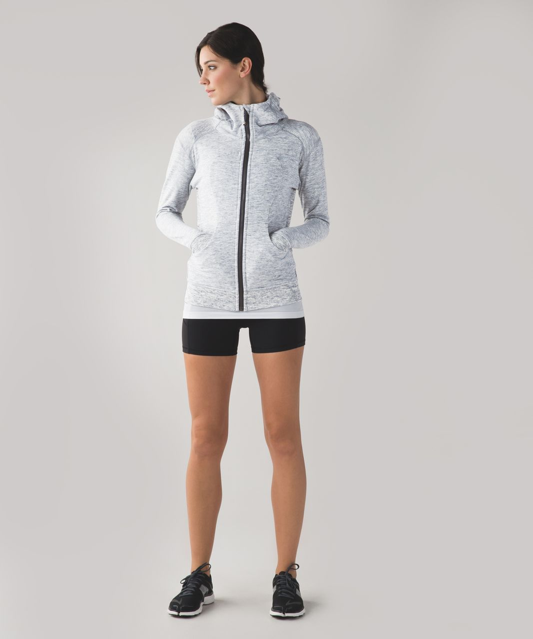 Lululemon Scuba Hoodie II - Heathered Space Dyed Gris