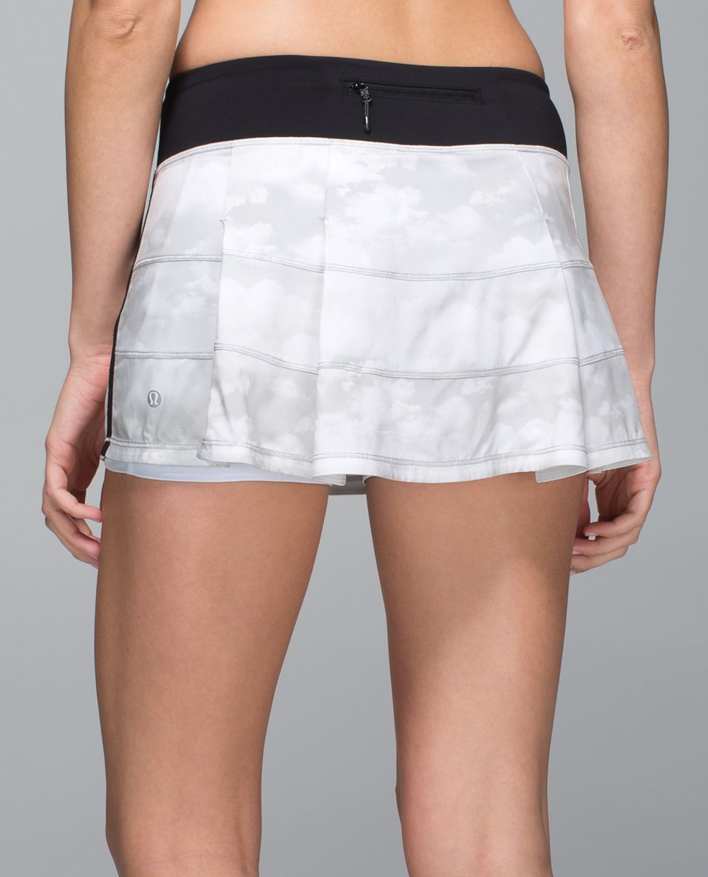 Lululemon Pace Rival Skirt II *4-way Stretch (Regular) - Nimbus Puff White Silver Spoon / Black