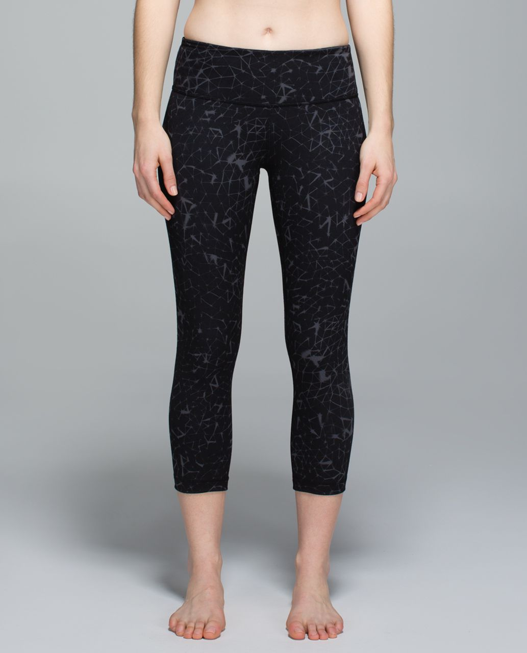 Lululemon Wunder Under Crop II *Full-On Luon - Star Crushed Coal Black
