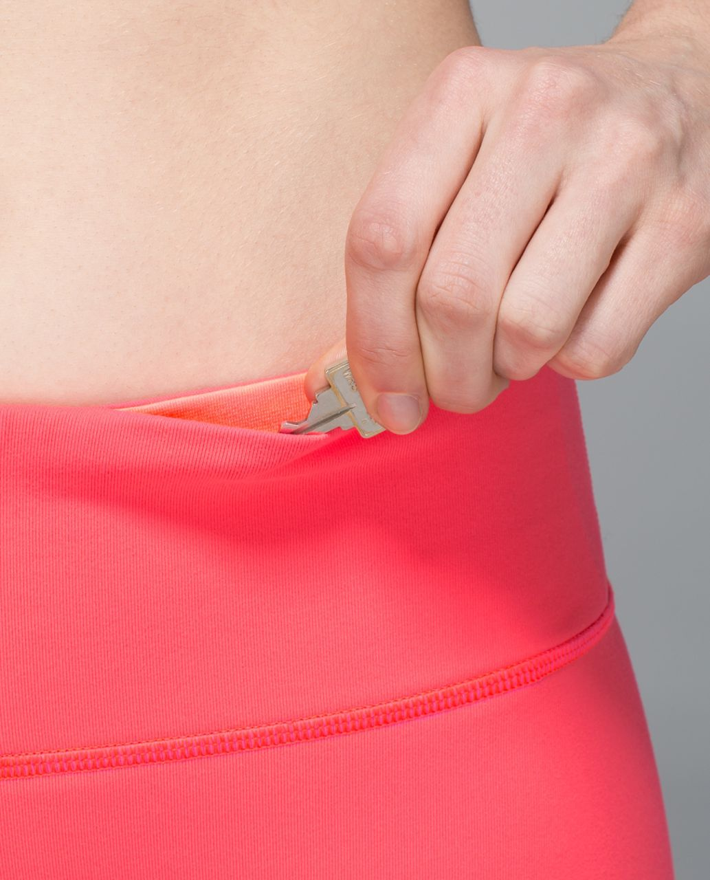 Lululemon Wunder Under Pant *Full-On Luon - Electric Coral