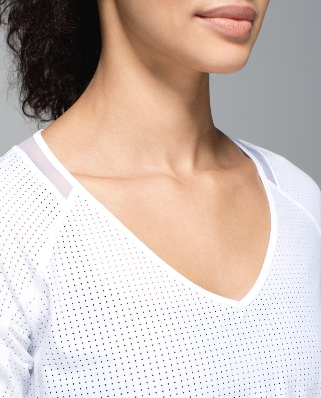 Lululemon Var-City 1/2 Sleeve - White
