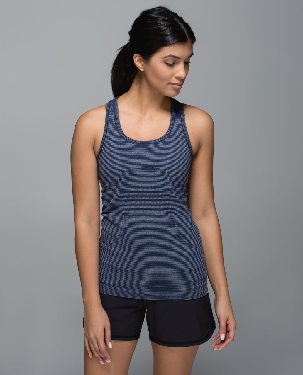 Lululemon Run:  Swiftly Tech Racerback - Heathered Deep Navy
