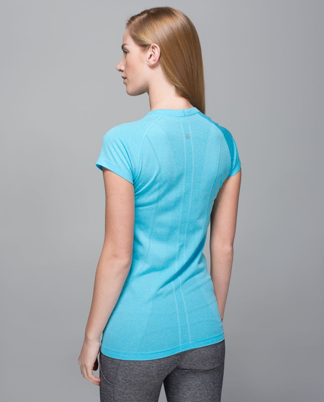 Lululemon Run:  Swiftly Tech Short Sleeve Crew - Heathered Fresco Blue