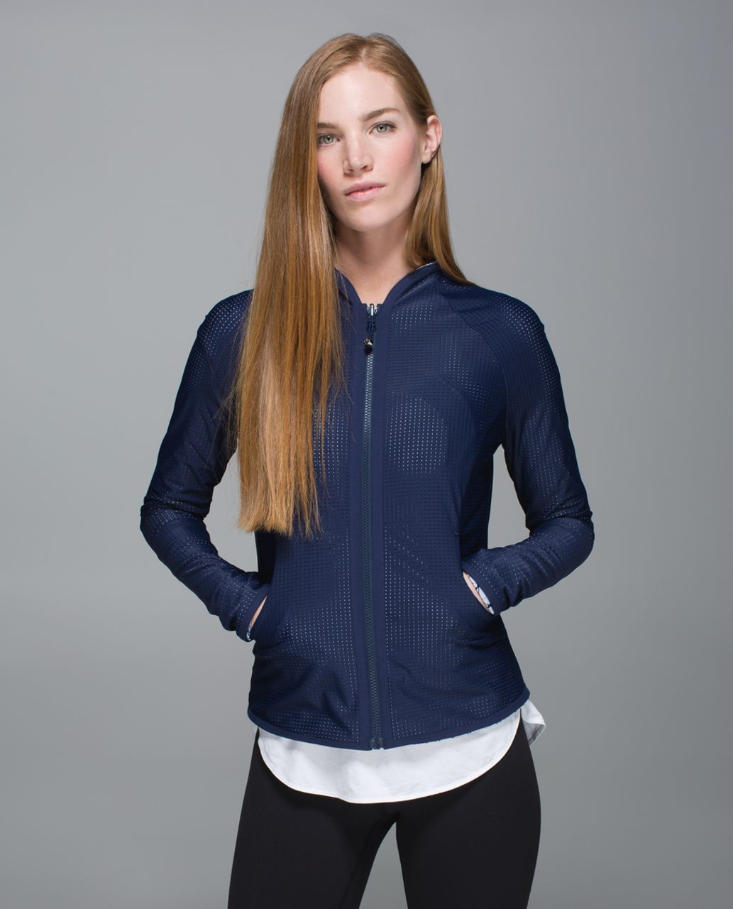 Lululemon Find Your Bliss Jacket - Deep Navy / Star Crushed Silver Fox Deep Navy