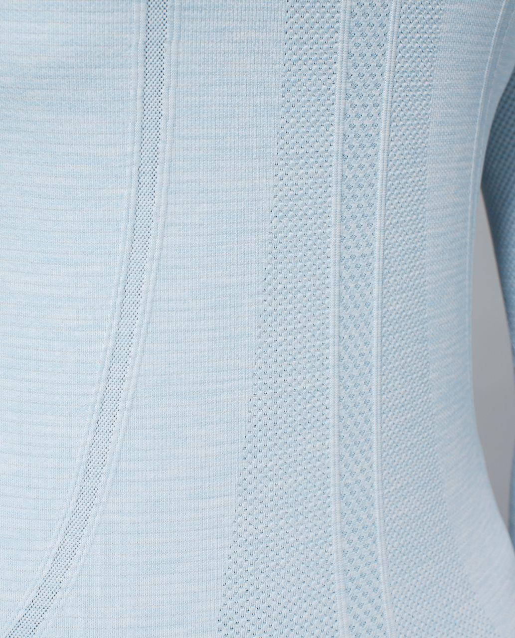 Lululemon Run:  Swiftly Tech Long Sleeve Crew - Space Dye Heathered Caspian Blue