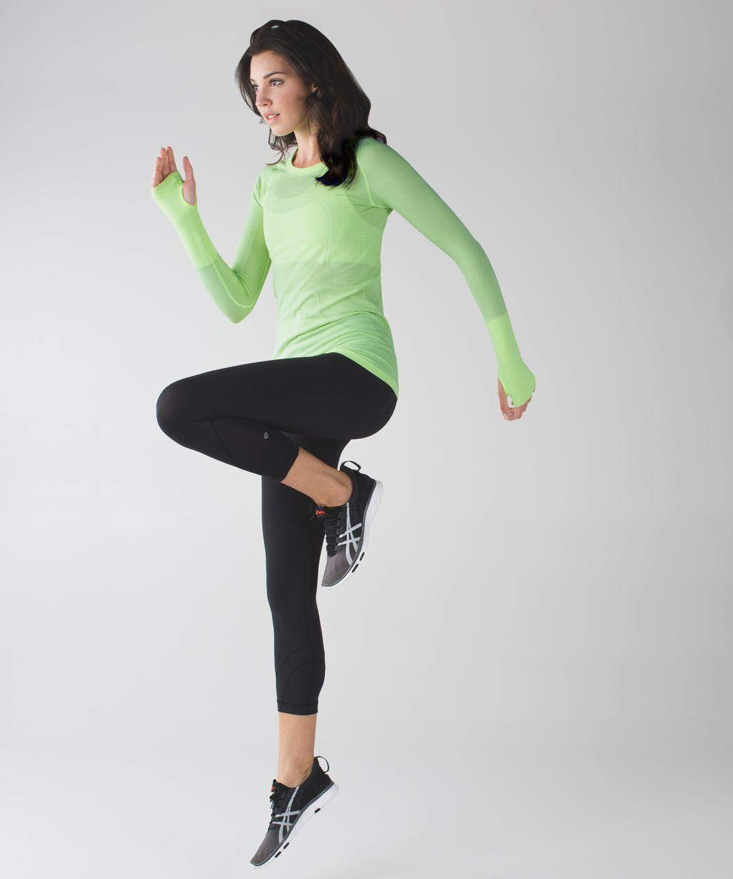 Lululemon Run:  Swiftly Tech Long Sleeve Crew - Heathered Clear Mint