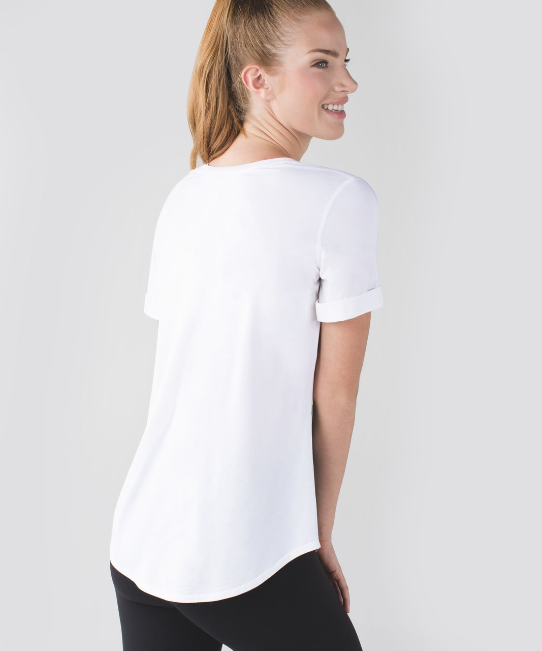 Lululemon Love Tee II - White / Prickly Pear Multi