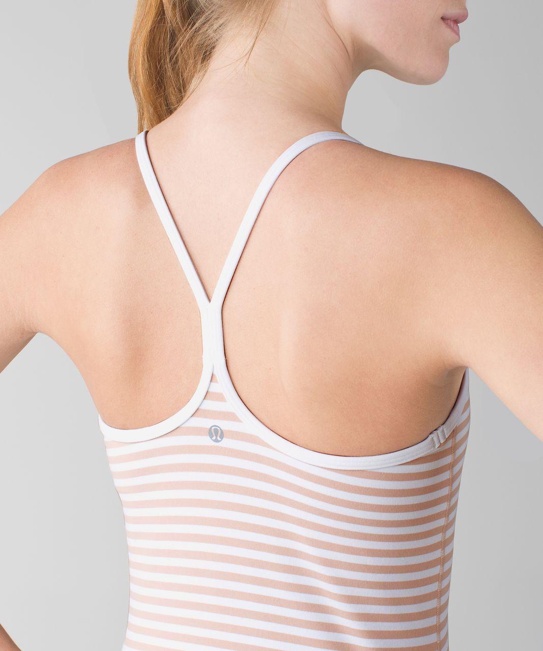 Lululemon Power Y Tank *Luon - Narrow Bold Stripe White Naked / White