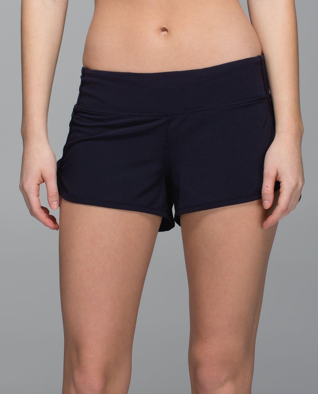 Lululemon Run:  Speed Short *4-way Stretch - Naval Blue