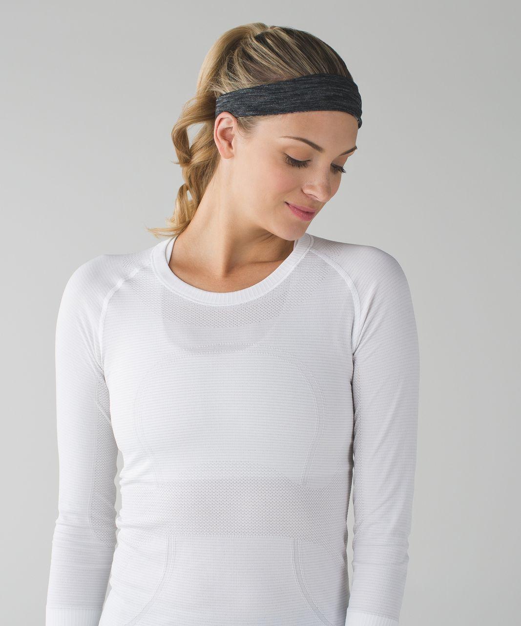 Lululemon Fringe Fighter Headband - Heat Wave White Black / Heathered Black