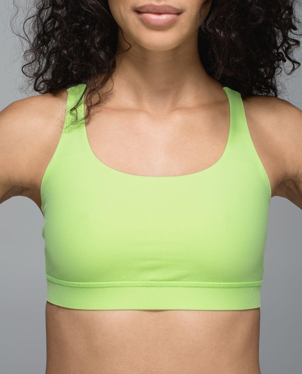 Lululemon Energy Bra - Clear Mint / Heathered Slate
